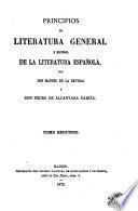 Principios de literatura general é historia de la literatura española