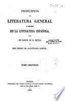 Principios de literatura general e Historia de la literatura española