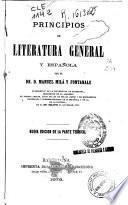 Principios de literatura general y española