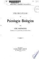 Principios de psicología biológica
