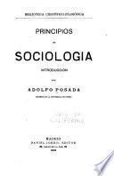 Principios de sociologia: introducción