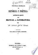 Principios generales de retórica y poetica