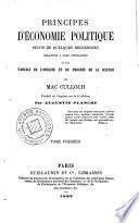 Principles d'économie politique, 1