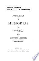 Privilegios y memorias de Vitoria
