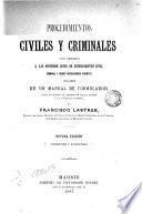 Procedimientos civiles y criminales