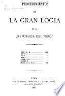 Procedimientos de la Gran Logia de la República del Perú