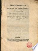 Procedimientos del Duque del Parque Castrillo en Canarias, con documentos justificativos