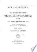 Proceedings - International Congress of Americanists