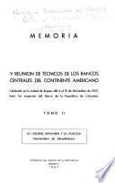 Proceedings - Meeting of Technicians of Central Banks of the American Continent