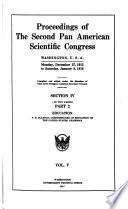 Proceedings of the second Pan American scientific congress