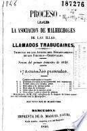 Proceso de la Asociación de Malhechores de las Illas, llamados trabucaires