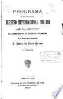 Programa de las lecciones de derecho internacional publico ...