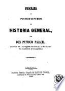Programa de nociones de historia general