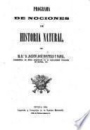 Programa de Nociones de Historia Natural. (Nociones de Historia Natural.).