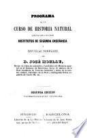 Programa de un curso de Historia Natural ...