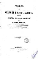 Programa de un curso de historia natural para los institutos de 2 enseñanza