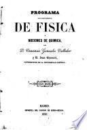 Programa de un curso elemental de Física y nociones de Química
