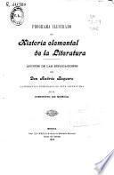 Programa ilustrado de historia elemental de la literatura