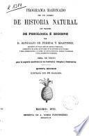 Programa razonado de un curso de historia natural con principios de fisiología e higiene