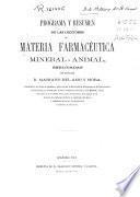 Programa y resumen de las lecciones de materia farmacéutica mineral y animal