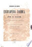 Prolegómenos del derecho, o Enciclopedia juridica
