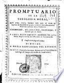 Promptuario de la theologia moral