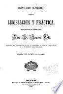 Prontuario alfabetico de legislacion y práctica