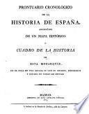 Prontuario cronológico de la Historia de España acompañado de un mapa histórico o cuadro de la historia de esta monarquía, en el cual de una ojeada se ven su origen, progresos y estado en todas las epocas