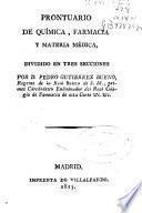 Prontuario de química, farmacia y materia médica