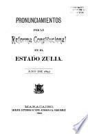 Pronunciamientos por la reforma constitucional en el estado Zulia