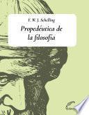 Propedéutica de la filosofía