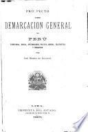 Prospecto sobre demarcación general del Perú