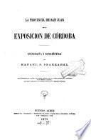 Provincia de San Juan en la exposición de Córdoba