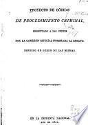 Proyecto de código de procedimiento criminal