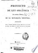 Proyecto de ley orgánica de sanidad pública de la Monarquía Española