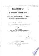 Proyecto de ley sobre el establecimiento del juicio por jurados y de Código de procedimiento criminal