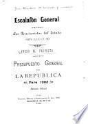 Proyecto de presupuesto general de la república ...