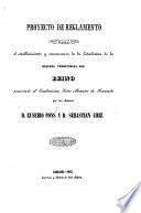 Proyecto de reglamento para el establecimiento y conservacion de la Estadistica de la riqueza territorial del Reino, etc