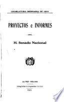 Proyectos e informes