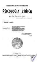 Psicología étnica, 1