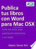 Publica tus libros con Word para Mac OSX