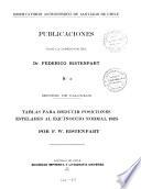 Publicaciones bajo la direccion del Dr. Federico Ristenpart