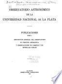 Publicaciones del Observatorio Astronómico