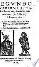 Quaderno de varios Romances y letras, las mas modernas que hasta hoy se han cantado