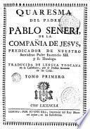 Quaresma del padre Pablo Señeri ..., 1