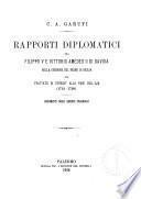 Rapporti diplomatici tra Filippo V e Vittorio Amedeo II di Savoia