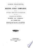 Rasgos biográficos de algunos curas ejemplares de la antigua provincia de Barinas