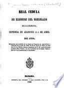 Real cedula de ereccion del Consulado de la Habana