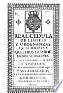 Real Cedula de límites, y ordenanzas, que su magestad, (que Dios guarde) manda se observen en los términos, límites, y vedados, del Real Heredamiento de Aranjuez, y sus agregados, y en las poblaciones confinantes a dicho sitio