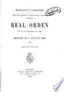 Real Orden de 23 de septiembre de 1892 y disposiciones que se dan cita en la misma